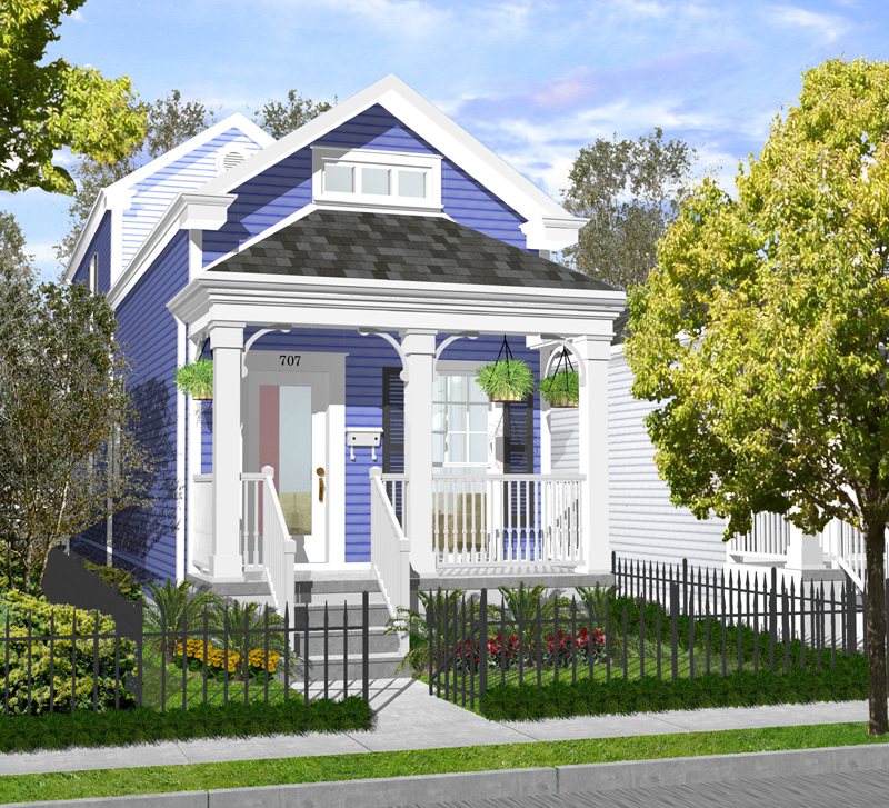 New Orleans Creole Cottage House Plans