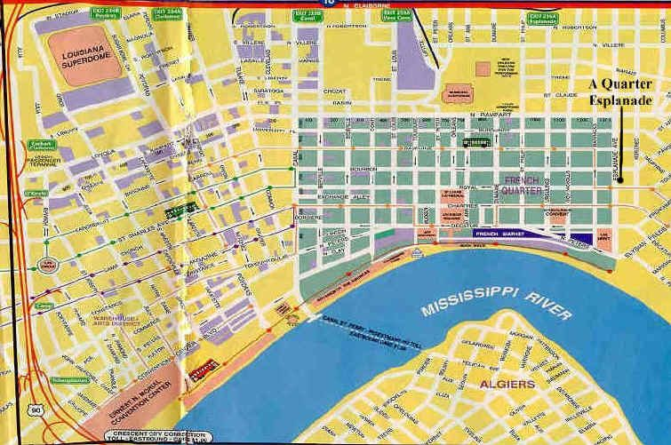 maplgneworleans2jpg – Tourist Map New Orleans